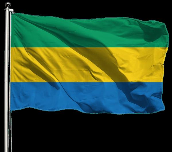 Gabun Flagge Querformat Premium-Qualität