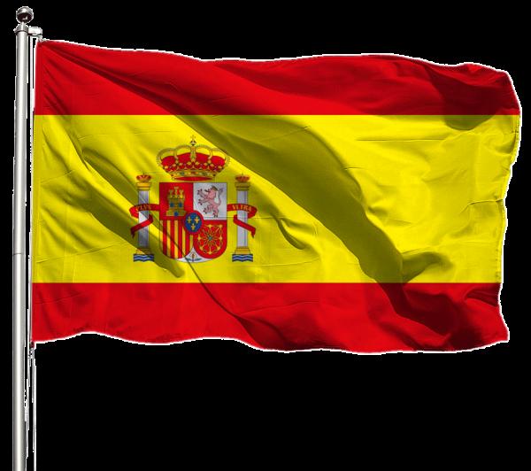 Spanien Flagge Querformat Premium-Qualität