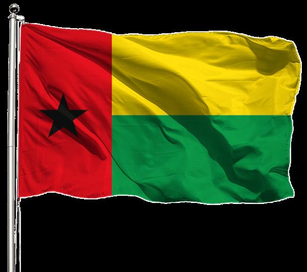 Guinea-Bissau Flagge Querformat Premium-Qualität