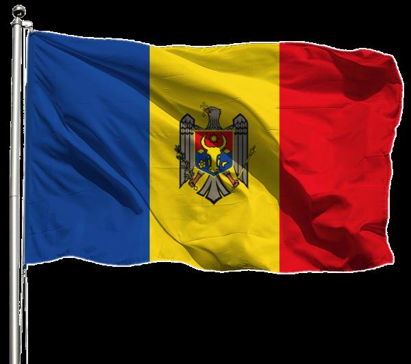 Moldau Flagge Querformat Premium-Qualität