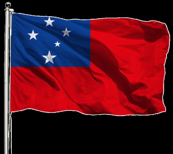 Samoa Flagge Querformat Premium-Qualität
