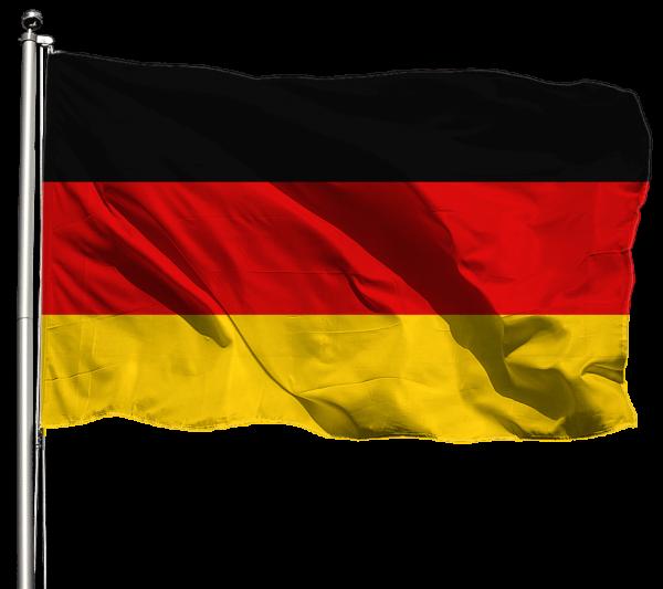 Deutschland Flagge Querformat Premium-Qualität