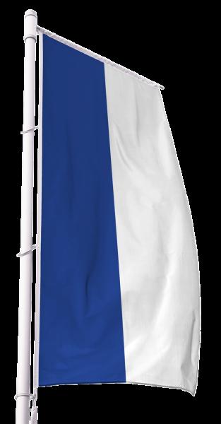 Blau-Weiß Kirchenfahne im Hochformat Premium