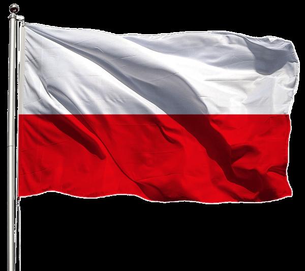 Polen Flagge Querformat Premium-Qualität