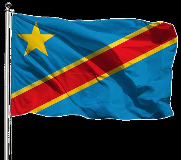 Kongo Kinshasa Flagge Querformat Premium-Qualität
