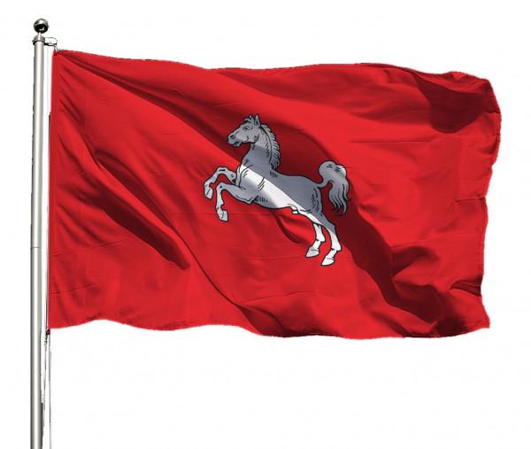 Flagge Niedersachsen Bürgerwappen Querformat Premium-Qualität