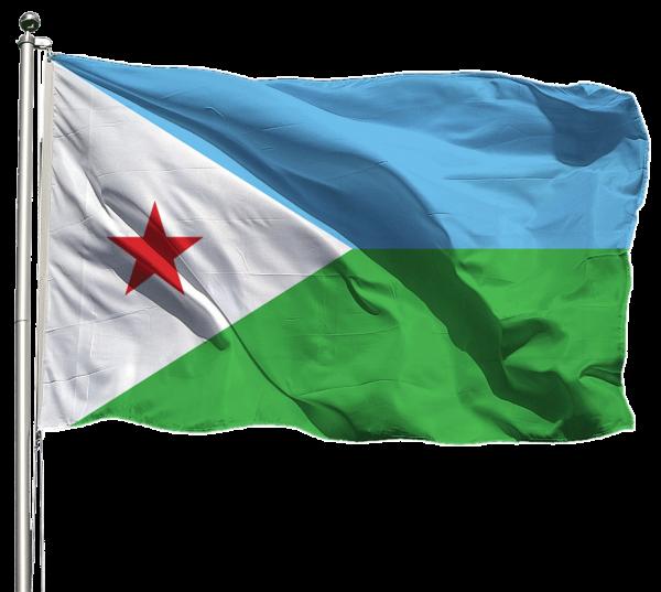 Dschibuti Flagge Querformat Premium-Qualität