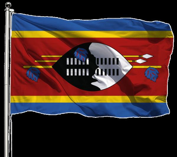 Swasiland Flagge Querformat Premium-Qualität