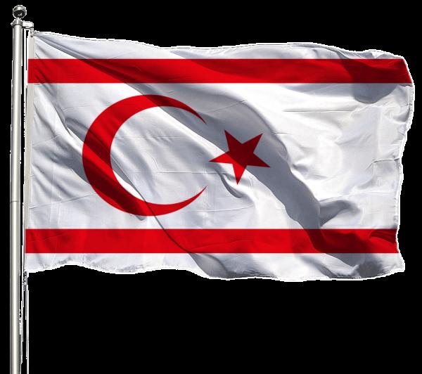 Nordzypern Flagge Querformat Premium-Qualität