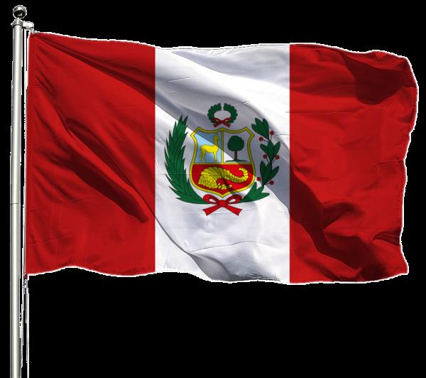 Peru Flagge Querformat Premium-Qualität