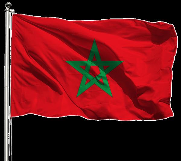 Marokko Flagge Querformat Premium-Qualität