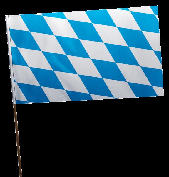 Stockflagge Bayern Raute ohne Wappen Premium-Qualität