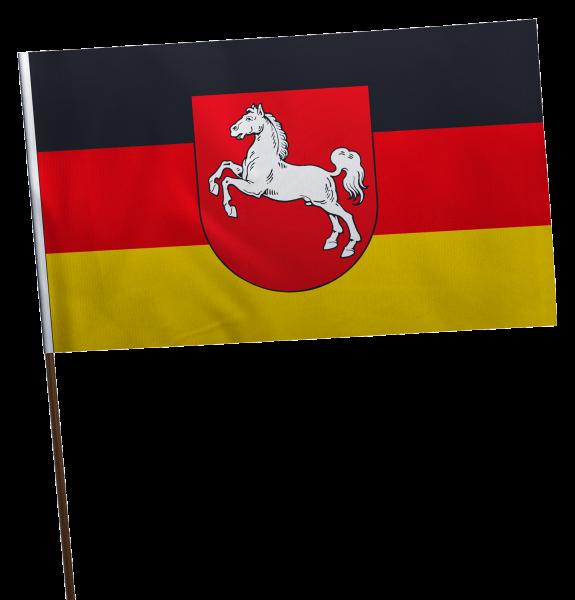 Stockflagge Niedersachsen Premium-Qualität