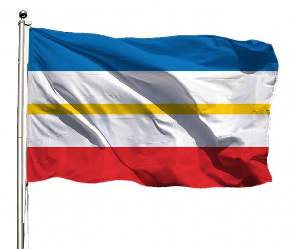 Flagge Mecklenburg-Vorp. o. Wappen Querformat Premium-Qualität