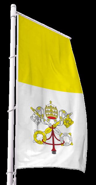 Vatikan Kirchenfahne im Hochformat Premium