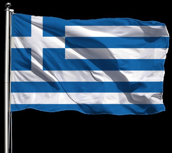 Griechenland Flagge Querformat Premium-Qualität