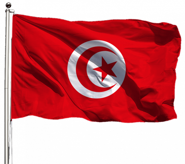 Tunesien Flagge Querformat Premium-Qualität