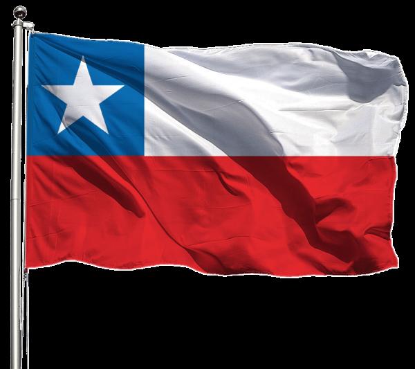 Chile Flagge Querformat Premium-Qualität