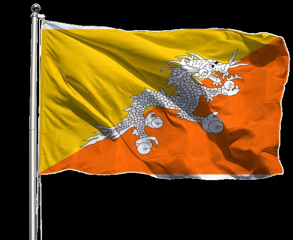 Bhutan Flagge Querformat Premium-Qualität