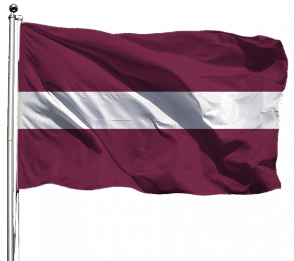 Lettland Flagge Querformat Premium-Qualität